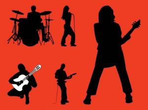 Rock Band silouettes redjpg